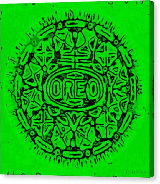 Nabisco Canvas Print - Green Oreo by Rob Hans