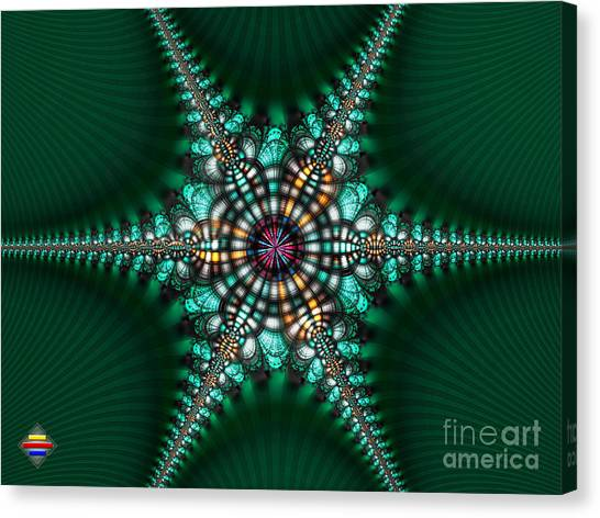 Green Starone Canvas Print by Vidka Art