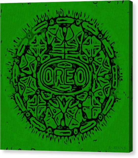 Nabisco Canvas Print - Greener Oreo by Rob Hans