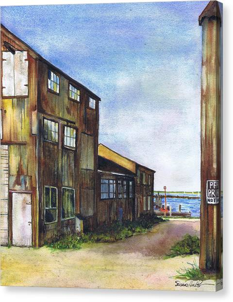 Greenport Boatyard Canvas Print