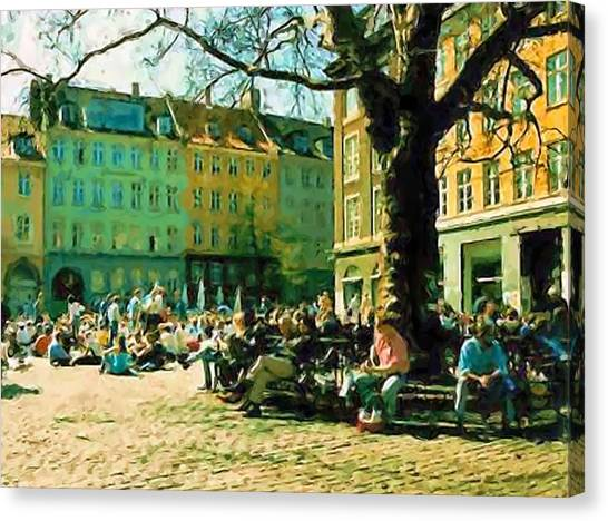 Grey Brothers Square I Canvas Print by Asbjorn Lonvig