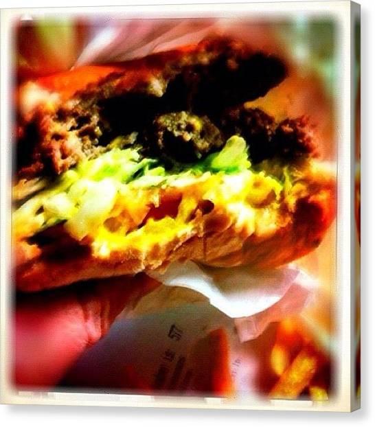 Fast Food Canvas Print - Griff's Hamburger, Haltom City, Texas by Michael Witzel