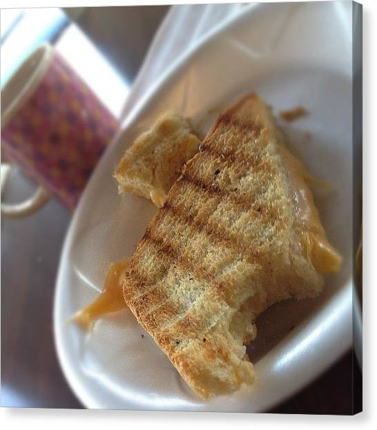Grills Canvas Print - Grilled Cheese And Espresso For by Emily W