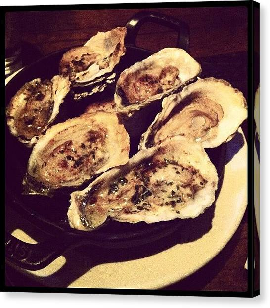 Oysters Canvas Print - Grilled Oysters At Ditch Plains, New by Arnab Mukherjee