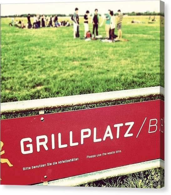 Grills Canvas Print - Grillplatz <3 by Marcela Fae