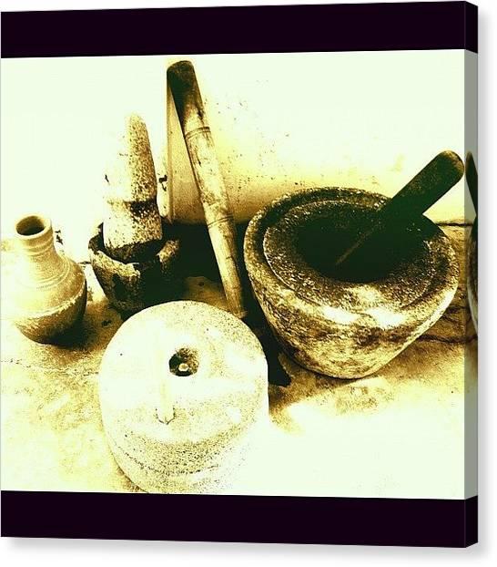 Tasty Canvas Print - #grinding #mixing #churning #crushing by Sundar Kanchibhotla