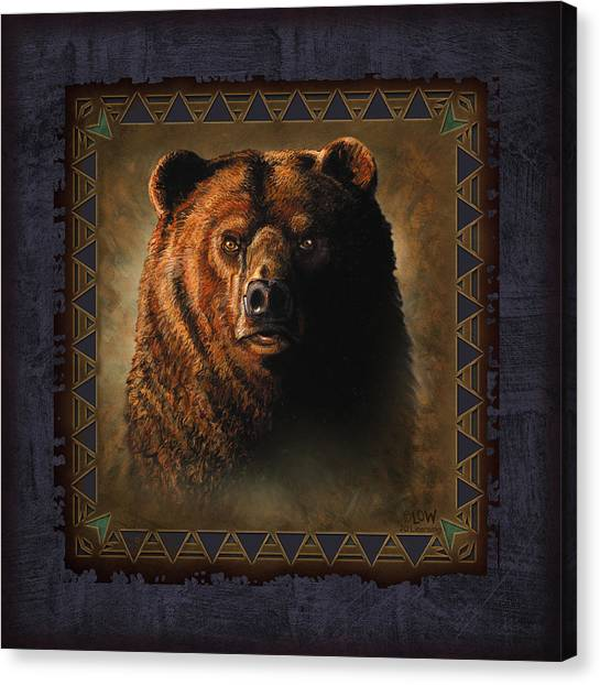 Wyoming Canvas Print - Grizzly Lodge by JQ Licensing