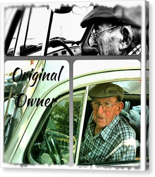 Old Age Canvas Print - Grocery Shopping Day ... 99 Years by Gwyn Newcombe