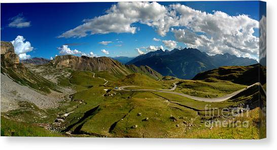 Alpine Canvas Print - Grossglockner High Alpine Road by Nailia Schwarz