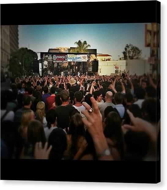 Bands Canvas Print - Grouplove Performing At The Pasadena by Loghan Call