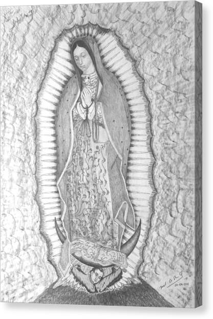 Guadalupe Canvas Print by Miguel Rodriguez
