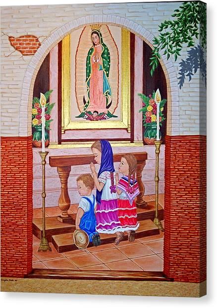 Guadalupe Y Ninos Canvas Print