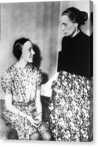 Gudrun Himmler, Daughter Of Heinrich Canvas Print by Everett
