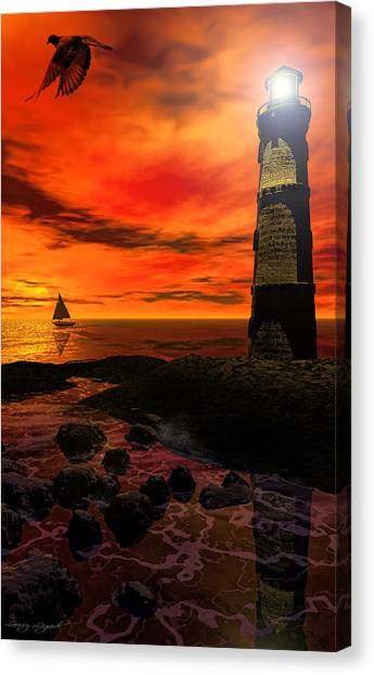 Cape Hatteras Lighthouse Canvas Print - Guiding Light - Lighthouse Art by Lourry Legarde