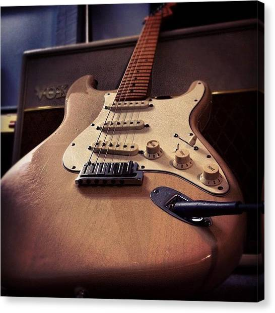 Stratocasters Canvas Print - Guitar by Alex Munsell