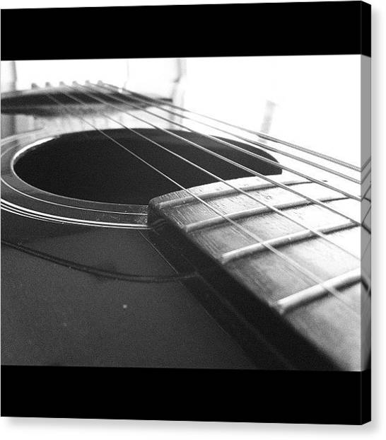 Yamaha Canvas Print - #guitar #guitarism #music #musician by Anthony Sclafani