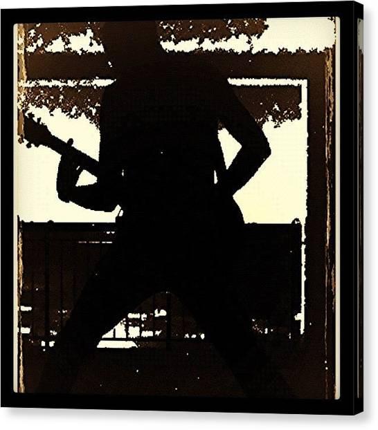 Punk Canvas Print - #guitar #guitarra #music #musica by Marco Santos