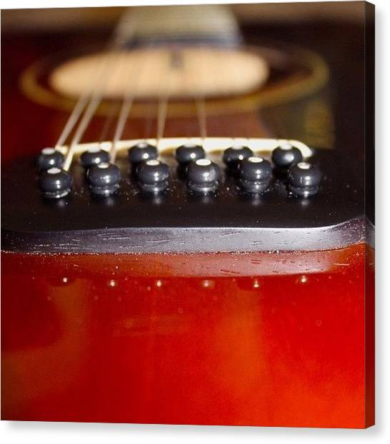 String Instrument Canvas Print - Guitar Long View by Justin Connor