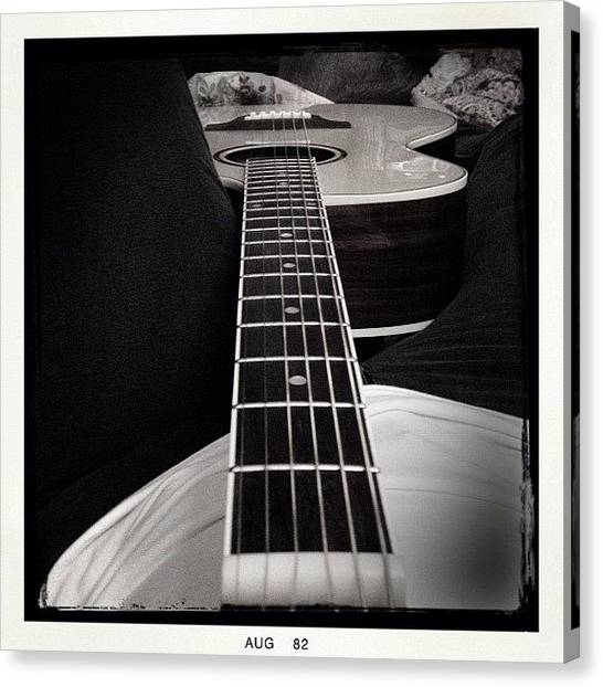 Tetons Canvas Print - #guitar #love by Jonelle Dansie