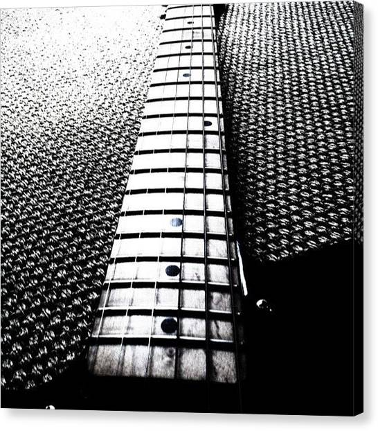 Fender Guitars Canvas Print - #guitar #neck #fender #telecaster by Max Guzzo