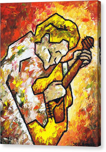 Classical Guitars Canvas Print - Guitar On Fire by Kamil Swiatek