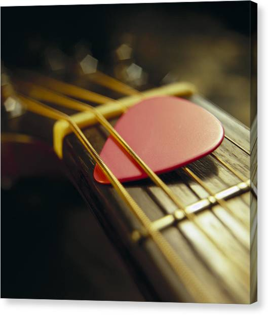 Guitar Picks Canvas Print - Guitar Pick by GK Hart/Vikki Hart