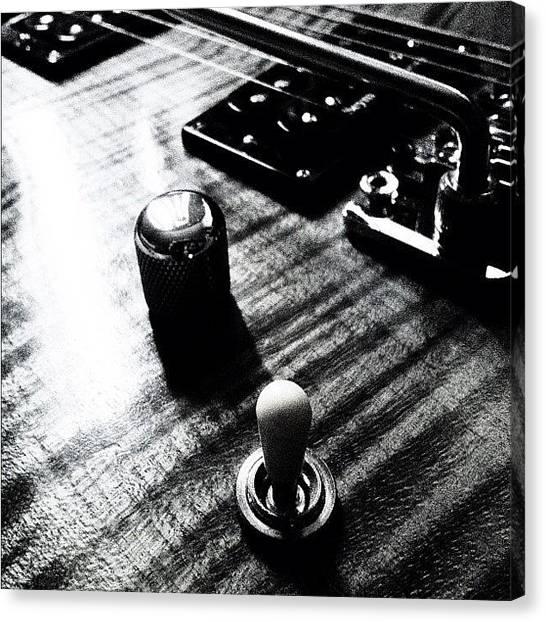 Instrument Canvas Print - #guitar #pot #volume #tone #switch by Max Guzzo