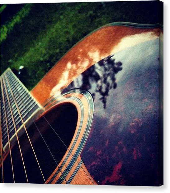Guitar Picks Canvas Print - #guitar #up #the #neck #enjoy #pic by Nick Cooper
