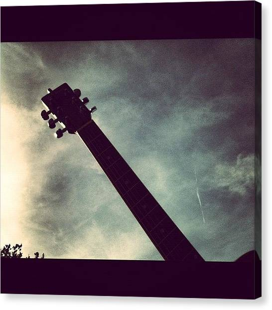 Guitar Picks Canvas Print - #guitars In The #air #everybody  #neck by Nick Cooper