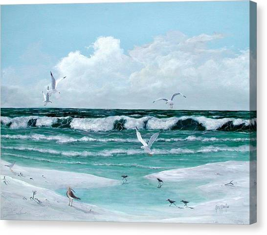 Gulf Shore Birds Canvas Print