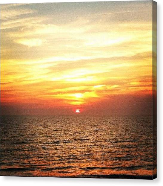 Beach Sunsets Canvas Print - #gulfomexico #sunset Just About To by Guy Mitrano