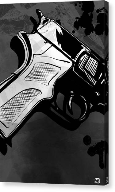 Blood Canvas Print - Gun Number 1 by Giuseppe Cristiano