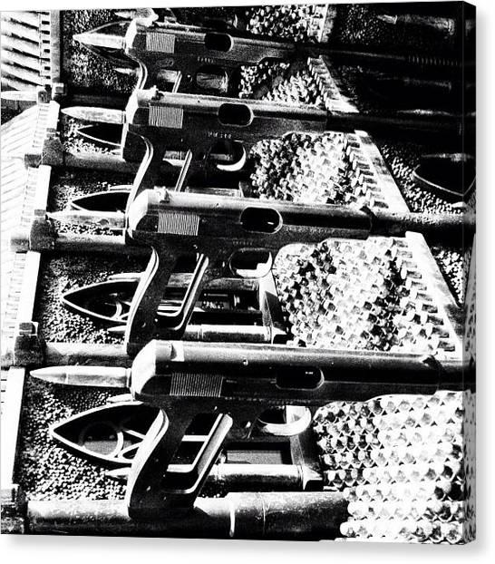 Guns Canvas Print - Guns! Church! by Monica Flores