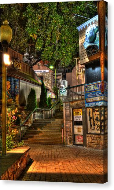Gatlinburg Tennessee Canvas Print - Guns Knives And Jail by Greg and Chrystal Mimbs