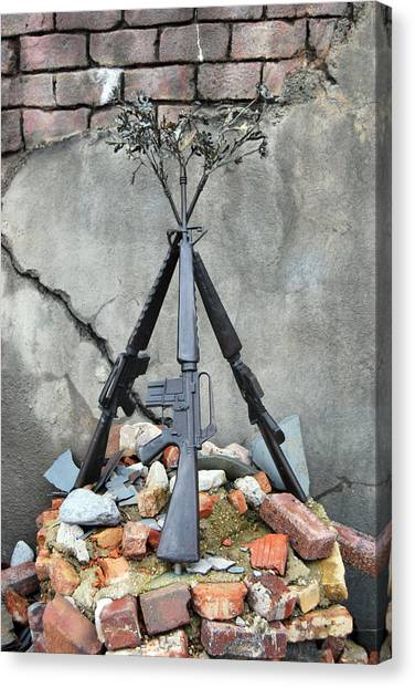Guns Of War - Color Canvas Print
