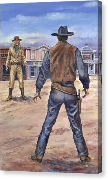 Gunslingers Canvas Print