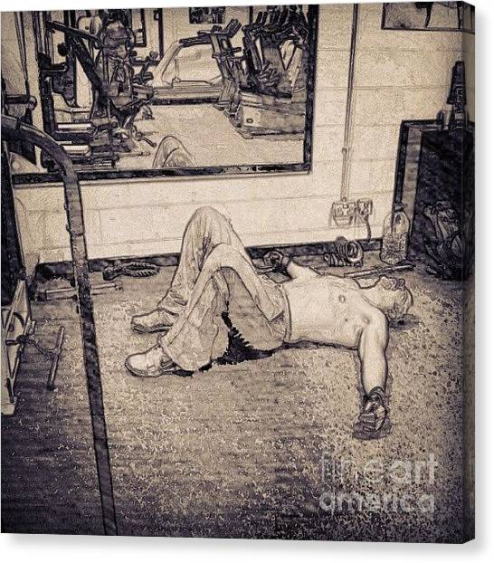 Sports Canvas Print - #gym #sport #relax #1stangel by Abbie Shores