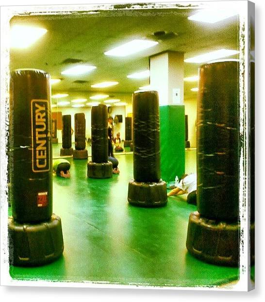 Gloves Canvas Print - #gym #workout #gloves #kickboxing #instagood #century #nyc # Ronkonkoma # 32 by Greg Toomey
