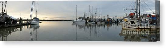 Habour Morning Canvas Print by James Yang