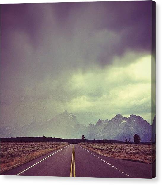Wyoming Canvas Print - Had To Do Another #roadstagram. These by Vanessa Wagener