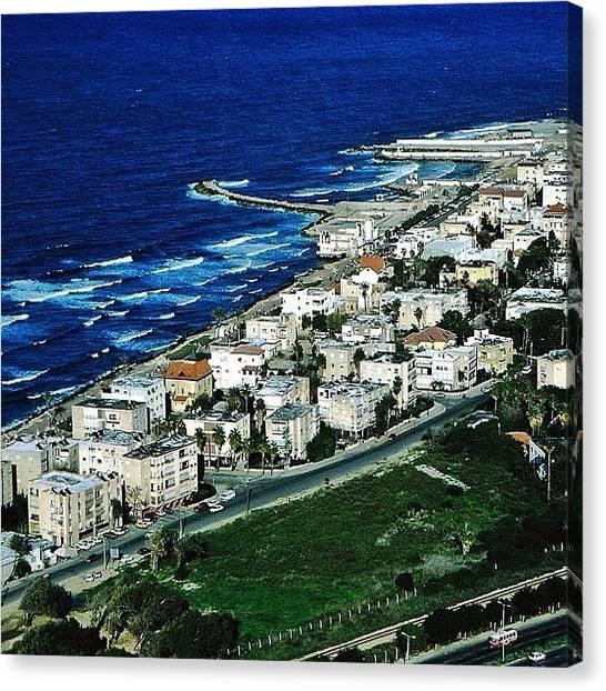 Israeli Canvas Print - Haifa From Carmel #haifa #israel by Shelley Walsh