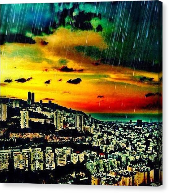 Israeli Canvas Print - Haifa by Kim Cafri
