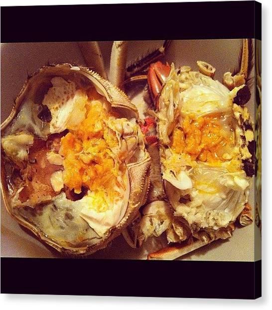 Seafood Canvas Print - #hairycrab #shanghaicrab #crab #seafood by TC Li