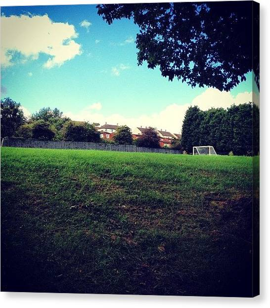 Teachers Canvas Print - Half Of The Enormous Playing Field At by De Romaine