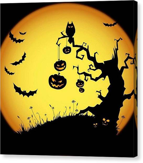 Bats Canvas Print - #halloween #31daysofhalloween #bats by Eric Only