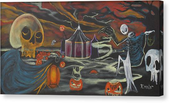 Halloween Circus Canvas Print