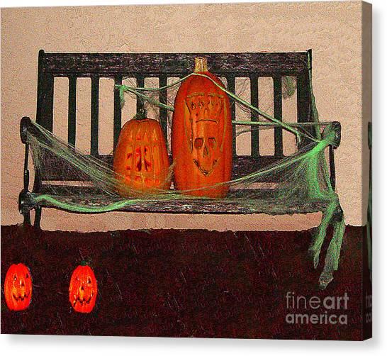 Halloween Decoration Canvas Print by Merton Allen