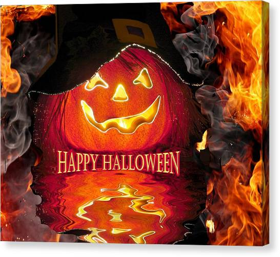 Halloween Pumpkin Canvas Print