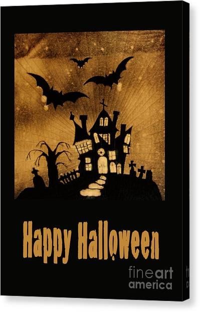 Halloween Quilt Top Canvas Print