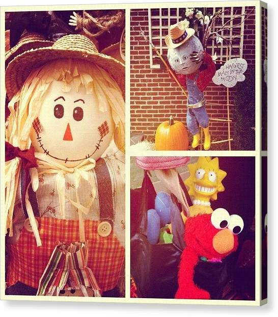 Scarecrows Canvas Print - #halloween #scarecrow #bucks by Ankur Agarwal